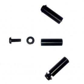 Pied de whisker à vis PVC / élastomère
