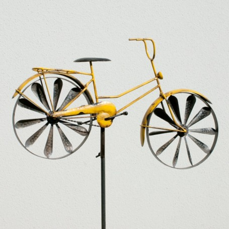 Eolienne Bicyclette Jaune