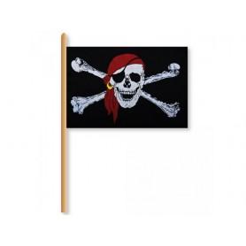 Drapeau de Pirate sur baton