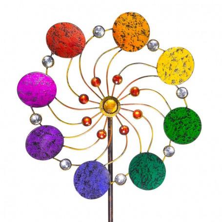 Eolienne en Métal pour la décoration du jardin : Exotic Flower - Jade - WinD-R