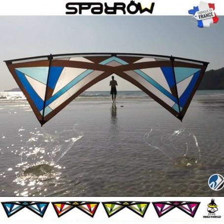Sparrow : cerf-volant 4 lignes fabriqué en france par Drôle d'oiseau.