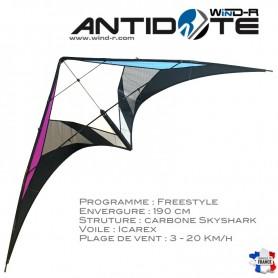 Cerf-volant Antidote / freestyle stunt kite / Richard Debray / WinD-R